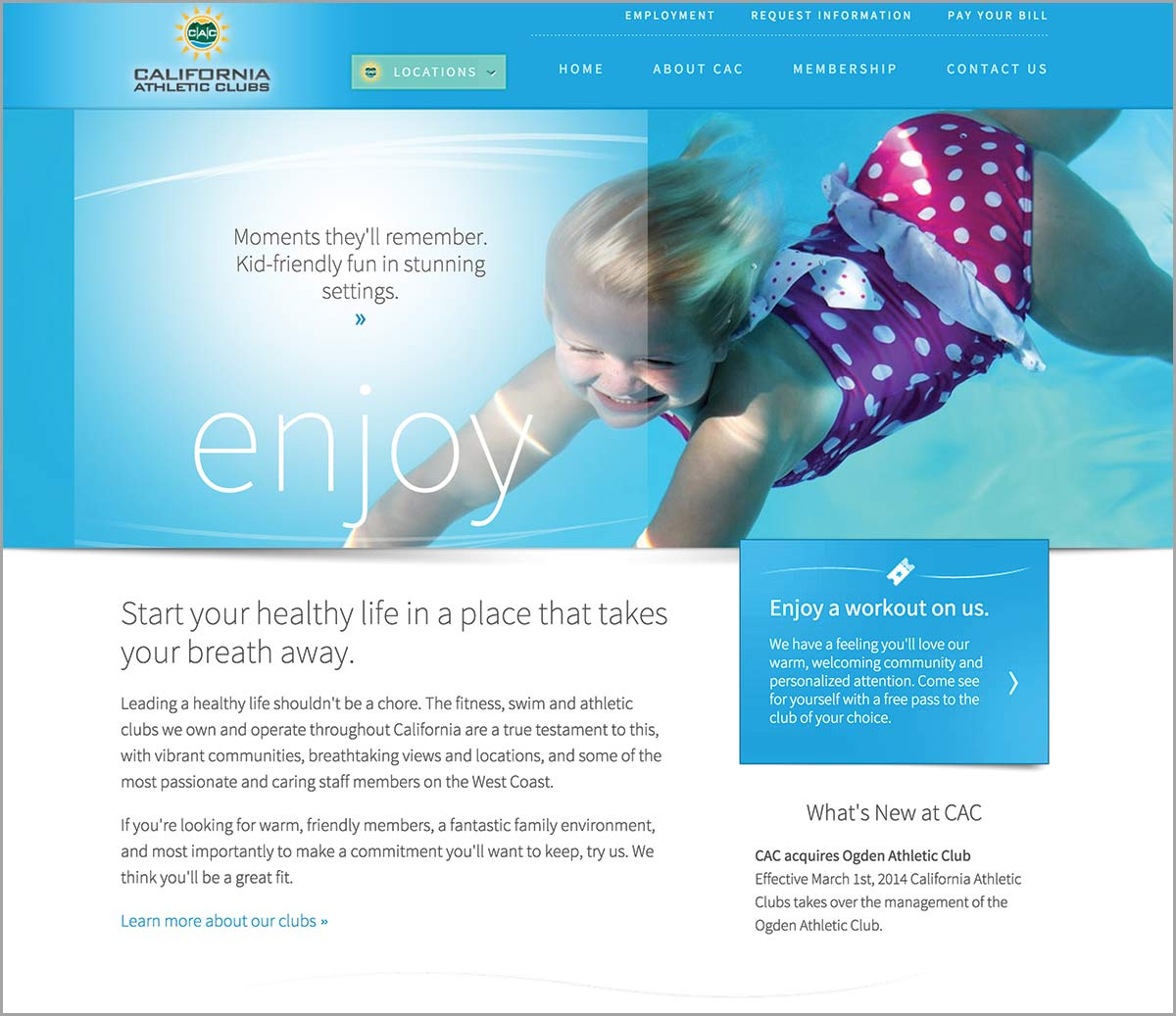 California Athletic Clubs (CAC) Homepage